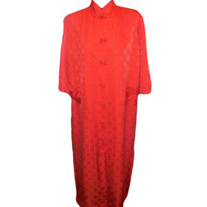 Vintage Robe Large Oriental Style Orange Large